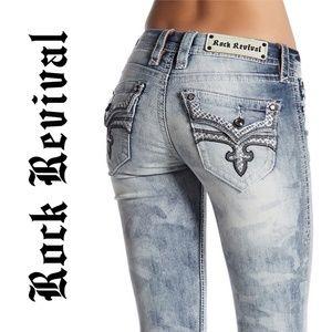7320 Rock Revival Skinny Jeans Size 27